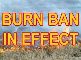 Burn Ban is On